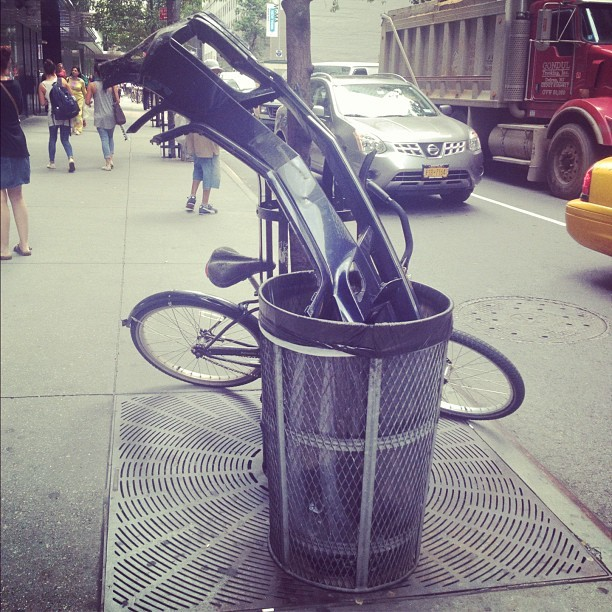 Let the caption contest commence… (Taken with Instagram at New York City (Where else would you see something so random?))
