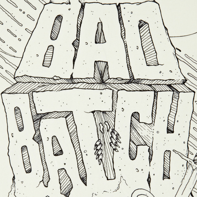 "Sneak peek of ""Bad Batch"" a new piece for Nephews Skate Shop."