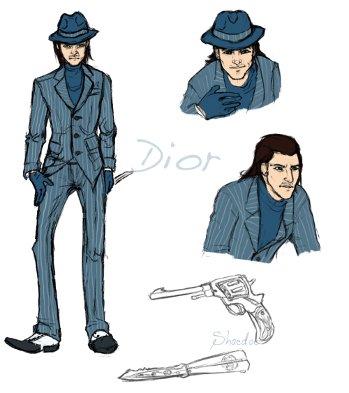 just a quick ref of my spy, Dior. something about the full body irks me. ):  must be his ugly mug I took too long on this.My babs~.