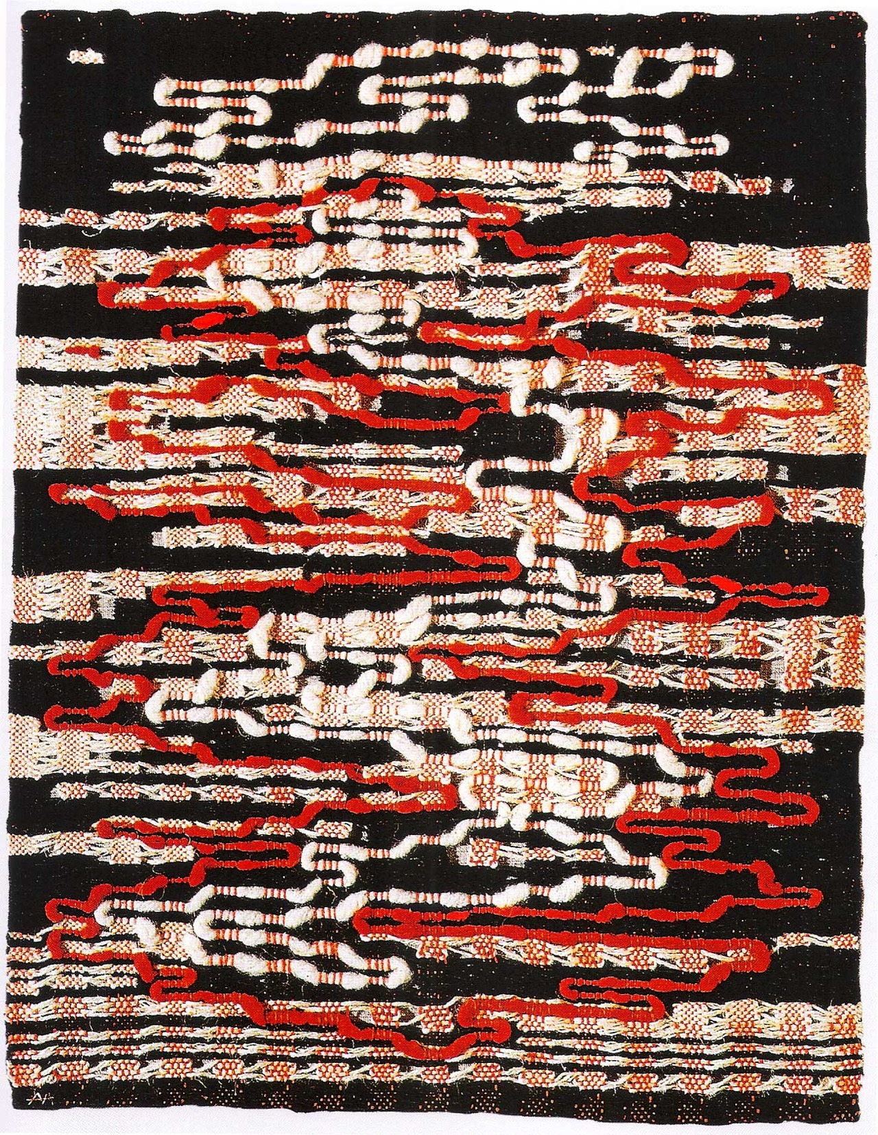 ANNI ALBERS UNDER WAY, cotton, linen, and wool, 1963 (©2007 The Josef and Anni Albers Foundation/Artists Rights Society (ARS), New York)