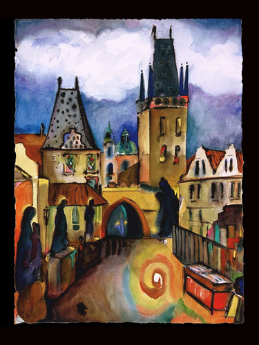 Nostalgic postcards of Prague (via liorafineart)