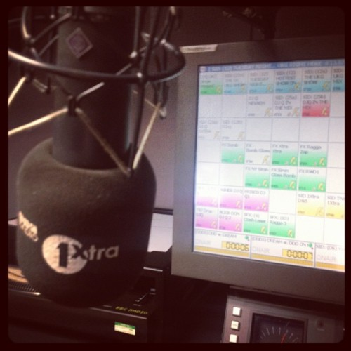 I'm on 1xtra NOW!! Until 1am!!!! (Taken with Instagram)