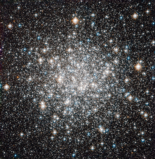lolajambon:  fuckyeahspaceexploration:  Recent Hubble image of the globular cluster Messier 68. It is 33,000 light years away. Isn't it fun to say 'globular'? UNIVERSE THAT WILL EAT US ALL.  I AM NOT A MERE SPECK, HUBBLE. Oh God, I'm not even a speck.