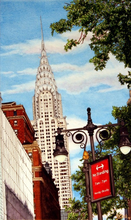 """The Chrysler Building""Painting by kdc123 Watercolor view of Manhattan."