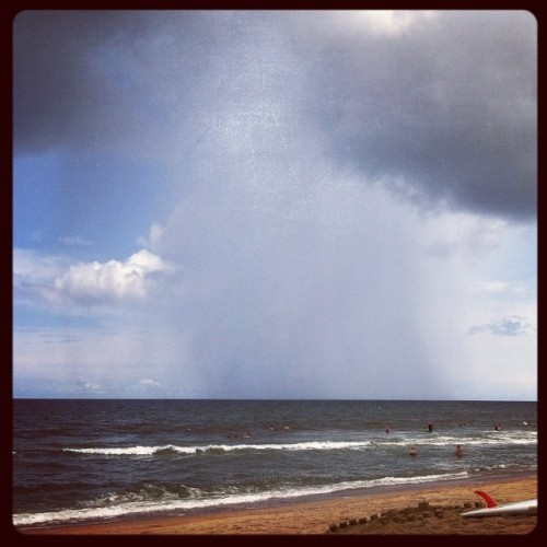 Raining off the coast. (Taken with Instagram)