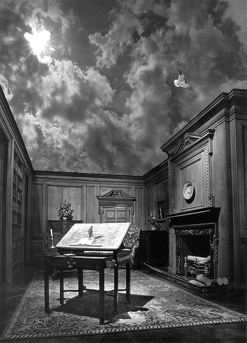 Jerry Uelsmann Man on Desk