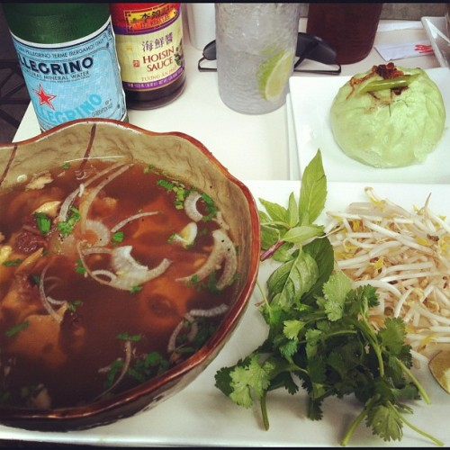 Oh My Jeevus #Pho gotdamn & the pork bun ^_^ #magasincafe (Taken with Instagram)