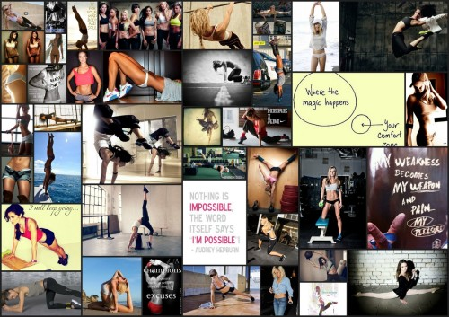 Staying motivated! Sometimes a vision board is all you need!
