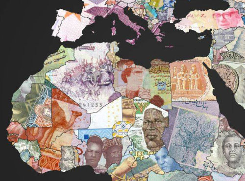 sunfoundation:  World Map of Banknotes Featuring the Currency of Each Country  The310Investigator created this world map from digital images of banknotes from around the world. Each country on the map is represented by its own currency.   No snarkiness. This is just really cool.