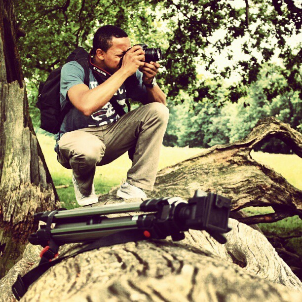 #Canon #Focus #Squinting #Balance #Stance #Log #Tree #PixelPerfect #Vision #SelfPortrait #2 #WildLife #Nature #Grass #Action #Snaps (Taken with Instagram)