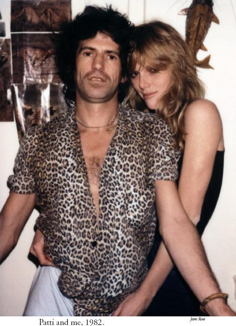 KEITH RICHARDS et PATTI HANSEN (1982)