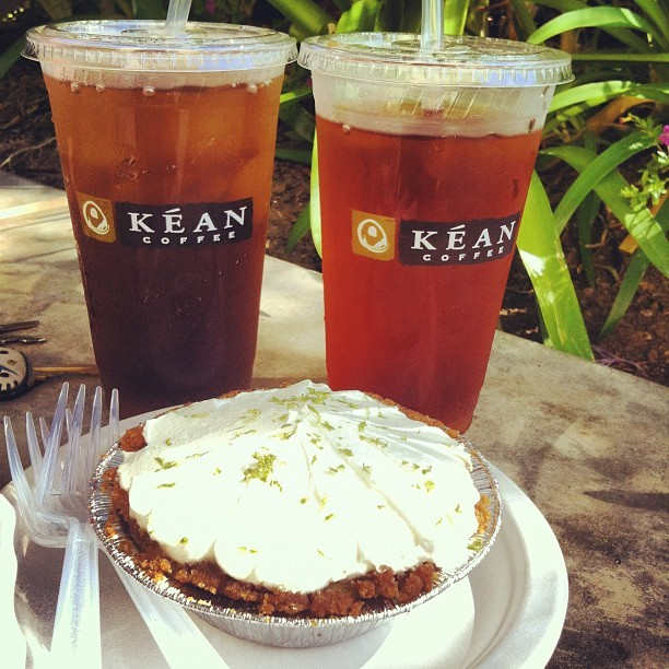 Kean and key lime w/ @brynnepalmer  (Taken with Instagram at Kéan Coffee)