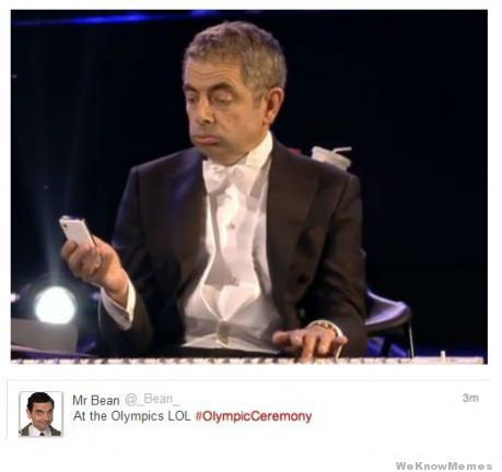 Best of Show! (Mr. Bean actually tweeted during Olympic Opening Ceremony)
