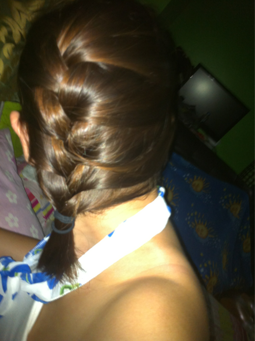 My braided hair lol (;