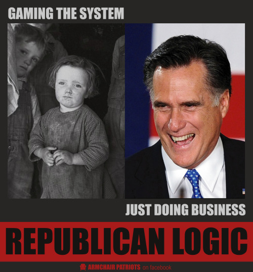 Republican Logic More on facebook »https://www.facebook.com/pages/Armchair-Patriots/173343349350173