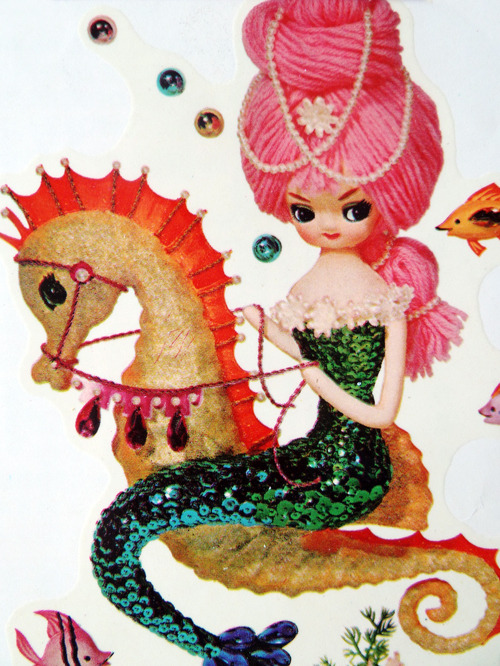 vintagegal:  1960's Meyercord mermaid decal