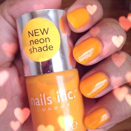 "This week's nails are by Nails Inc. London and it is the shade ""Westbourne Grove""!  Fun!"