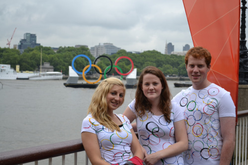 We finally found them! The elusive Olympic Rings that float down different parts of the Thames were spotted today by Waterloo Bridge and picture taken. Gotcha!