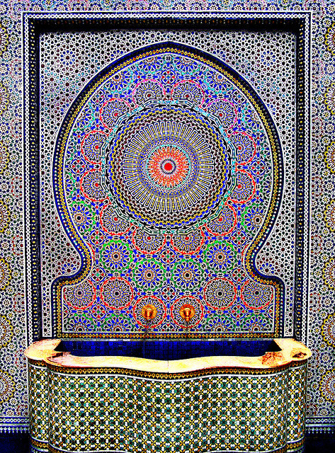fallenangel4:  Islamic Art Water Fountain by boffo1234567 on Flickr.