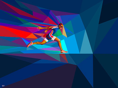 Olympic fever. Drawing by Charis Tsevis.