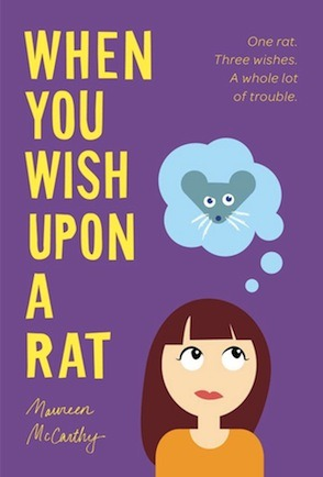Teen Review When You Wish Upon a Rat Maureen McCarthy Pub 9-2012, Amulet, $16.95 Author Maureen McCarthy is known for her bestselling books in Australia, which include Cross My Heart and Chain of Hearts. When You Wish Upon a Rat is Maureen McCarthy's first book for middle school readers. In When You Wish Upon a Rat, eleven-year-old Ruth Craze visits her aunt Mary Ellen in New York, and Mary Ellen gives Ruth a rat named Rodney. Rodney can grant Ruth three wishes that can change the way Ruth lives. She could wish to be an only child, or her parents could care more about Ruth than about her brother. After living her wish for a little while, Ruth can leave that life by finding a red door before six o'clock. If Ruth doesn't leave the life she wished for, she will be stuck in her wishful life forever.  Rodney the rat is one key feature that really worked in the book. I would have left this book on the shelf if Rodney weren't in it. Without Rodney in the story, it just wouldn't be as good or exciting. The reason Rodney worked so well in the book is because Rodney wasn't always perfect about granting wishes; Ruth's wish would not turn out exactly as what she wished. Other than the rat, there were no other key features.  The beginning of the book was slow going but after a while it got better. I really think I should have left the book for someone younger than 15 years old to read,  but I didn't because it was one of the only books that had an animal as one of the main characters.  The most important thing this book wants you to remember is that it can be hard to change your life, especially if a rat is the one that changes it for you, and he has all the magic. - Kyra N.,15