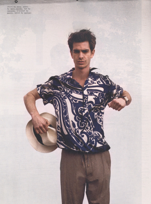 ac-z:    Andrew Garfield by Cass Bird for Nylon Guys, July 2012.