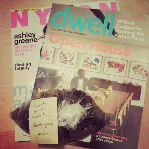 It's a good day for mail. #mail #nylon #dwell #momlove (Taken with Instagram)