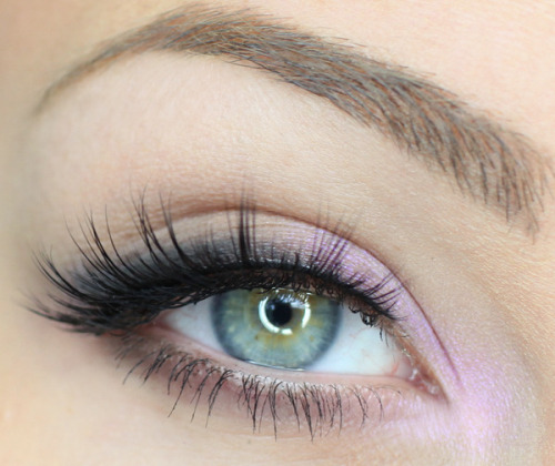 beautylish:  Try a subtle pop of pink like Catherine G. to accent your eyes!
