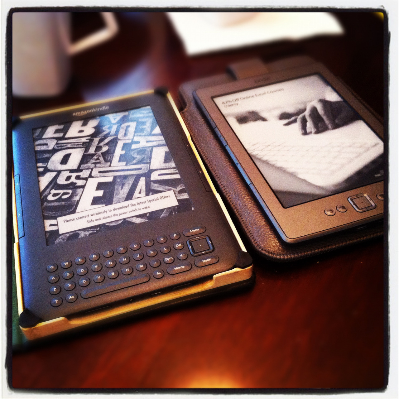 Zac and I both have kindles now! We're bookworms. :)
