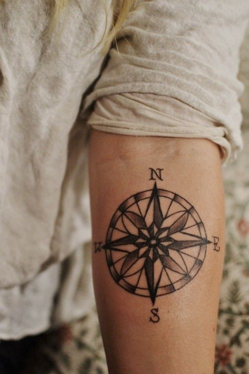 I am obsessed with compass tattoos.