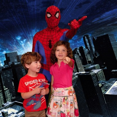 Sean and Kayleigh get to meet Spider-Man (Taken with Instagram)