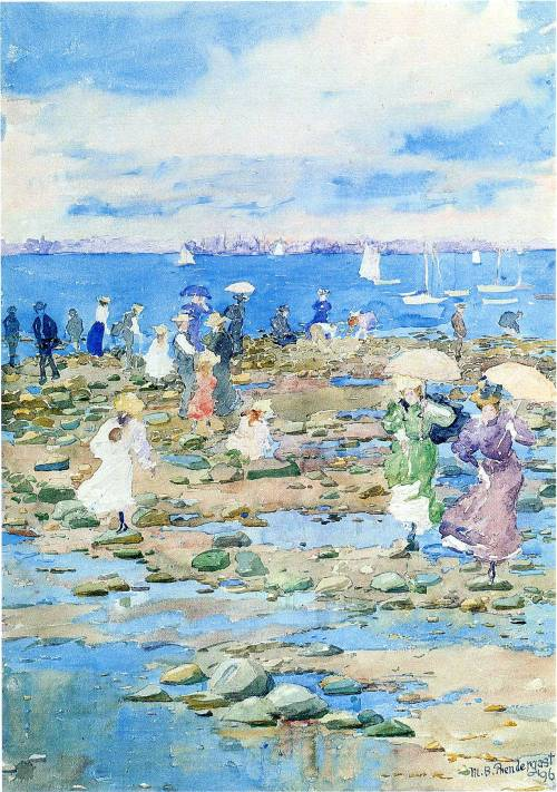 wikipedia4eva:  Summer Visitors by Maurice Prendergast.
