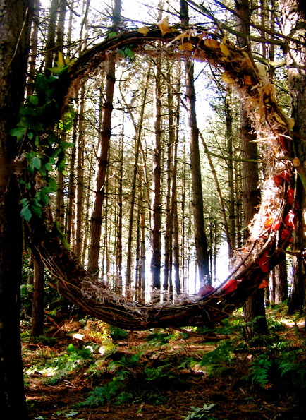 chasingthegreenfaerie:  Portal Through The Woods by ~Asphodel-Foxx