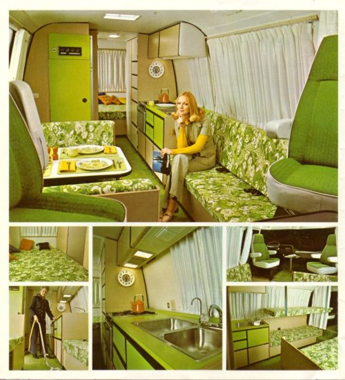 elcomfortador:  From a 1973 brochure for a GMC Motorhome.