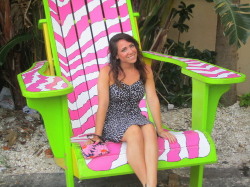 giant zebra chair :)