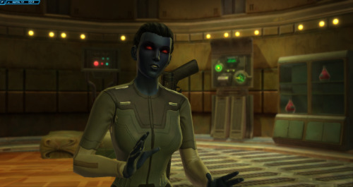 So, it turns out that some of my friends IRL are now on SWTOR. And so I decided, in the interests of togetherness, to level a healer. And really, an Operative is a perfectly good healer. Which means I have to go through the IA storyline again. And romance Vector. OH DEAR WHAT A SHAME NEVER MIND I'll be over here. Fangirling.  (hearing about the upcoming switch to hybrid f2p model makes me wonder if we'll ever get any *new* content tho' /sadface )