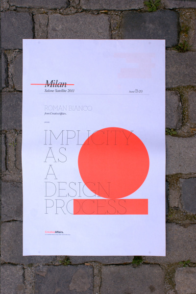 Promotional Pack - Salone Satellite 2011 - CreativeAffairs