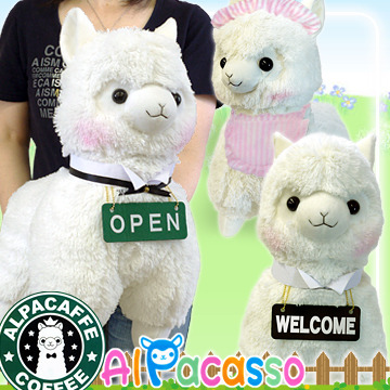 !! NEW SERIES ALERT!! Series Name:ALPACAFE SERIES Release Date:Late September 2012 Sizes: 16, 31, 50cm Colors: White (Open Sign, Welcome Sign, Maid), Pink (Maid)