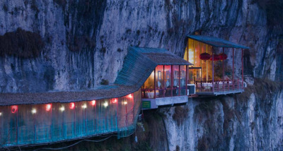 Restaurant near Sanyou Cave above the Chang Jiang river, Hubei, China