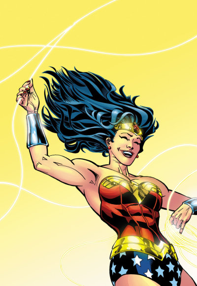comicsforever:  Wonder Woman // artwork by Scott Kollins (2012)  Yeeee-haaaah!!! Being a bodacious brute force shooore is gold-durn' fuuun!