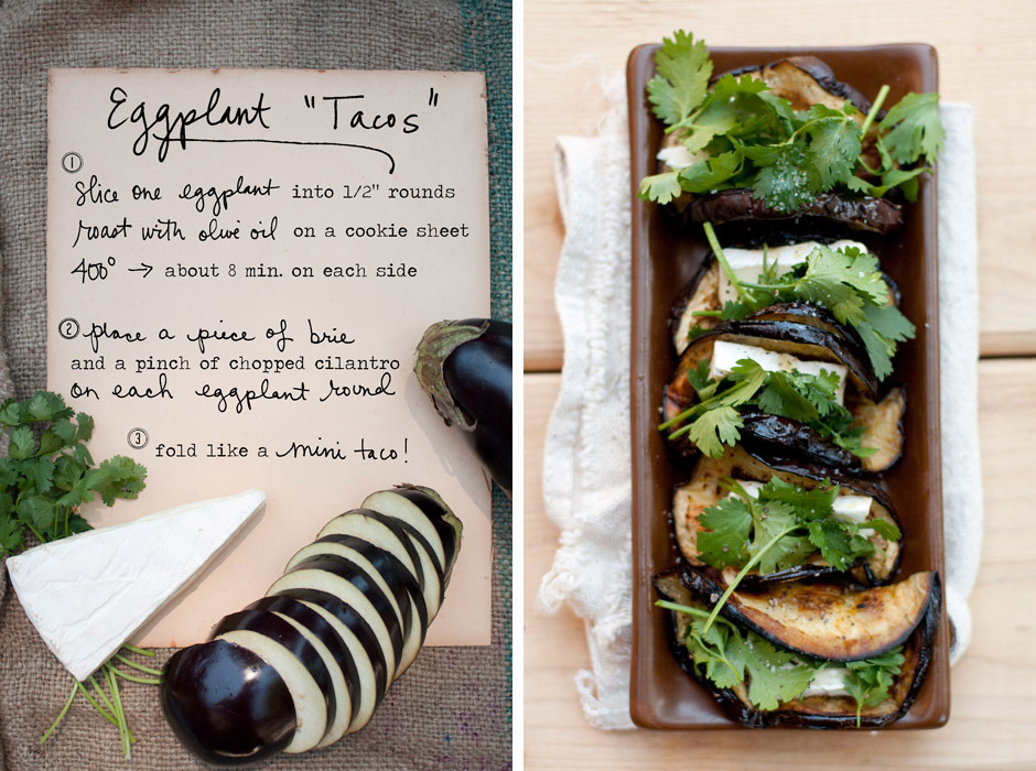 I must make these super-simple Eggplant Tacos by Erin Gleeson of The Forest Feast!!!