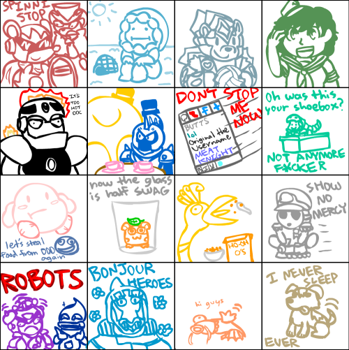 livestream art featuring the actual livestream chatbox