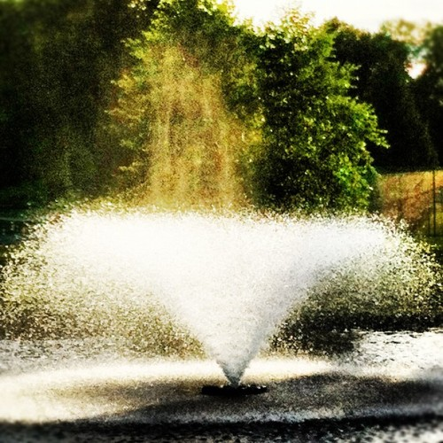 #Spooky water #fountain in local #park #igaddicts #landscape #instagood  (Taken with Instagram)