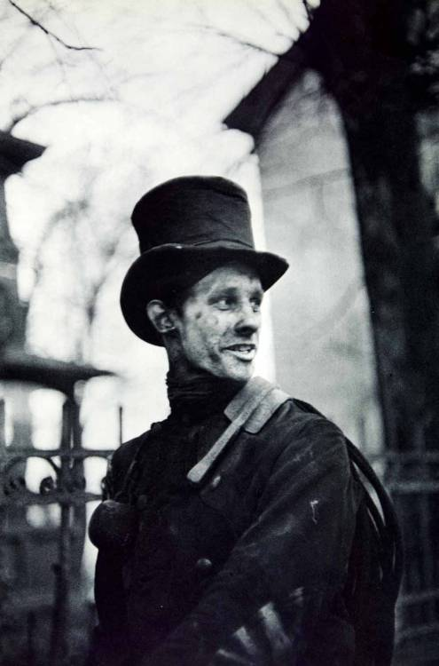 Portrait of a chimney sweep, in Hamburg, Germany, 1950s photo by Henri Cartier-Bresson