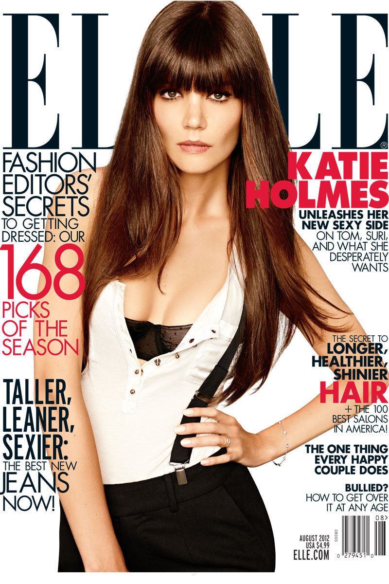 Katie Holmes Covers Elle Magazine's August Issue.