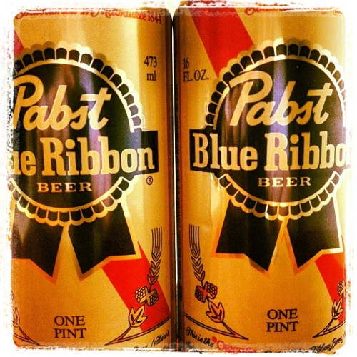 A couple of PBRs at the hotel tonight. #beer #pbr #pabstblueribbon #drink #drunk #alcohol #instabeer #wasted #summer #hotel #night #pint #red #white #blue #can #tallboy #yum #tasty  (Taken with Instagram)