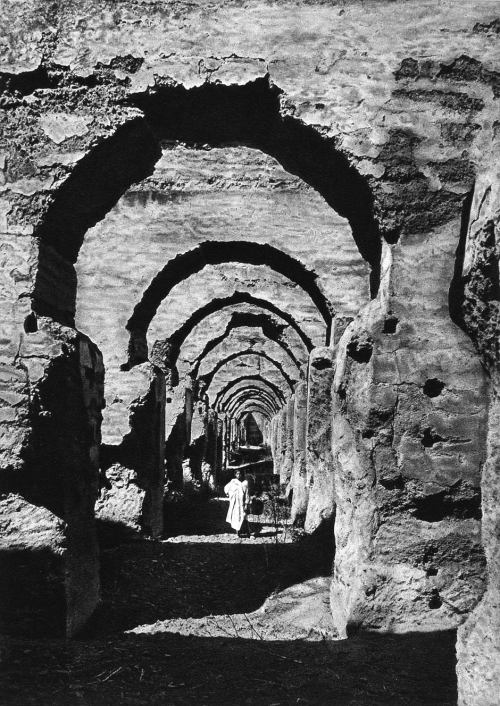 Ruins of the Haras in Meknes, Morocco, 1920s