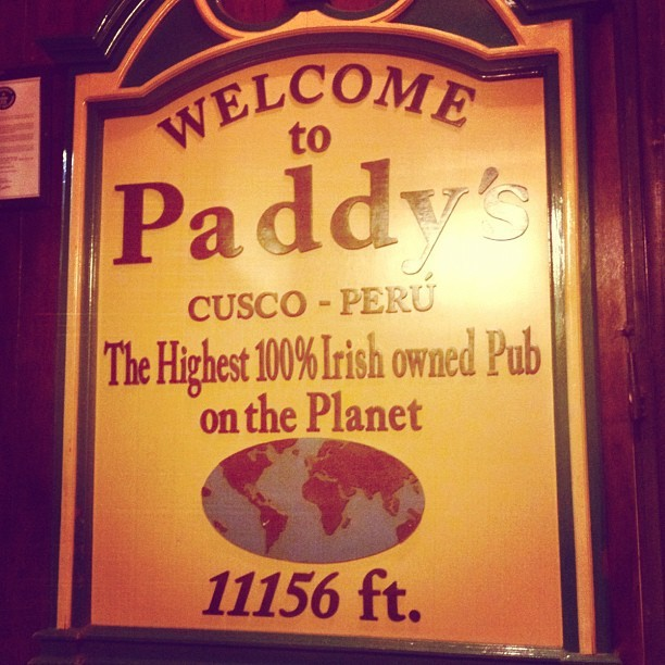 #irish #peru #cusco #pub  (Taken with Instagram)