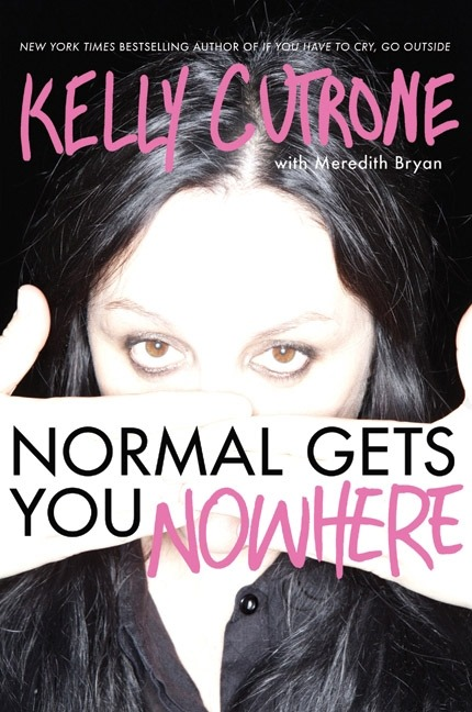 "This is P.R. maven Kelly Cutrone's second book. It's called ""Normal Gets You Nowhere"".  Kelly's first book ""If You Have To Cry Go Outside… and Other Things Your Mother Never Told You"" was revolutionary for me. It was the most honest, straightforward and realistic collection of advice and lessons on the world I had ever read. She is a very wise woman who has literally had an amazing, tumultuous journey on this earth. I honestly think it should be mandatory for young woman to read her books and hear the things she has to say. She just discusses things that people don't talk about or own up to. Her second book did not disappoint and had even more insight into the world and the way people are programmed to react. It's a call to arms to break out of normalcy and the silence you're expected to participate in and to live your own life, on your terms. To seriously take a step back and look at why we do things the way we do them and to figure out what is actually important in life. I started this book at a really important time for myself. I've lost my old outlook on life and being able to focus on what I thought was right. I used to always look on the bright side and battle the everyday troubles by fighting back with as much positivity as I could. I got really got at training my brain to reinterpret the things that happened to me and make the most out of my life. I need to get back to me. This year has been tough. Losing my support system with being away from my friends and family for so long, having been away for almost a full year now. I need to reprogram myself and start being me again. And this book is one of my first steps. Thank you Kelly Cutrone. I needed a good kick in the ass and wake up call."