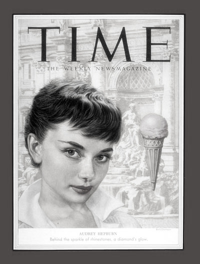 Audrey Hepburn on the cover of TIME magazine, 7 September 1953